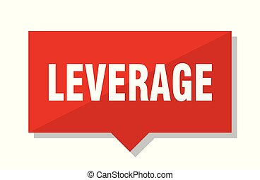 leverage red tag - leverage red square price tag