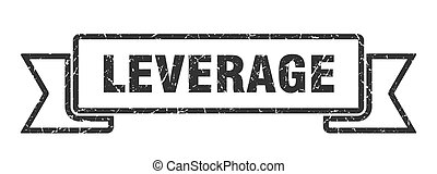 leverage ribbon. leverage grunge band sign. leverage banner