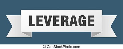leverage ribbon. leverage paper band banner sign