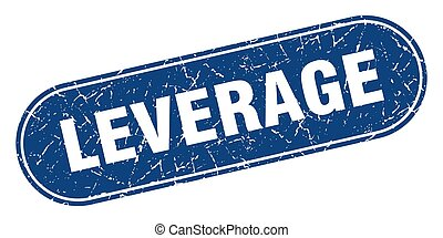 leverage sign. leverage grunge blue stamp. Label