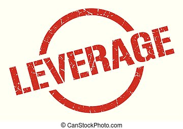 leverage stamp - leverage red round stamp