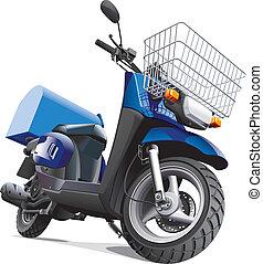 leverans, gods, motorcykel