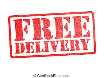 leverans, gummi, gratis, stämpel
