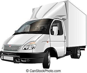 leverans, last transportera, /
