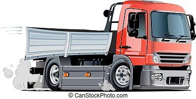 leverans, last transportera, tecknad film, eller