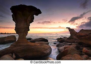 levers de soleil, australie, nsw, noraville