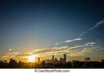 levers de soleil, charlotte, caroline, matin, nord