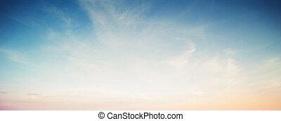 levers de soleil, coloré