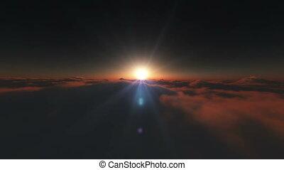 levers de soleil, espace