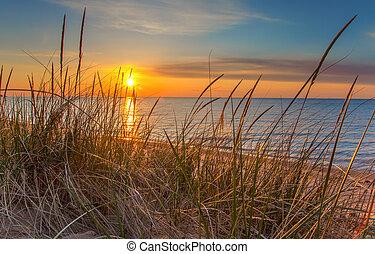 levers de soleil, horizon