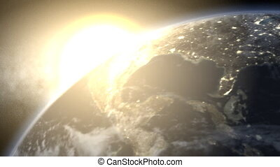 levers de soleil, la terre, (24fps), 01