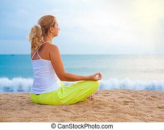 levers de soleil, méditation, temps