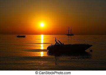 levers de soleil, marine