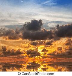 levers de soleil, mer