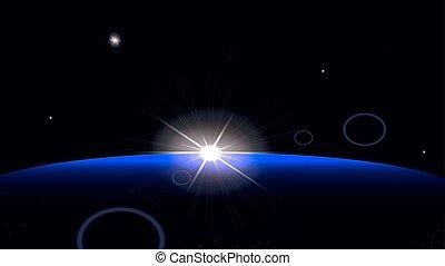 levers de soleil, space.