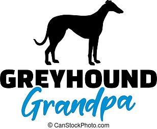levriero, silhouette, nonno