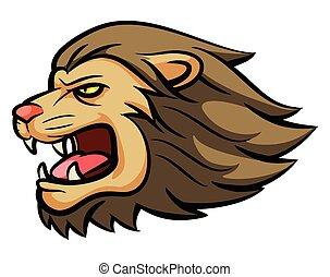 lew, głowa, maskotka