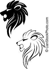 lew, głowa
