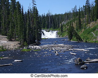 Lewis Falls in South Yellowstone