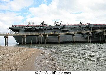 Lexington Ship - The Lexington battleship in south Texas...