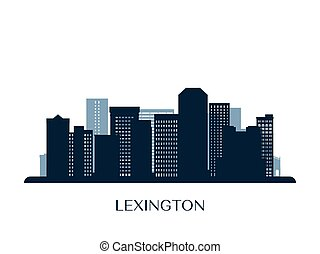Lexington skyline, monochrome silhouette. Vector...