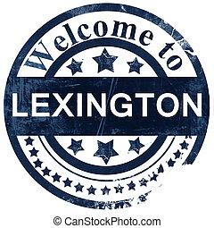 lexington stamp on white background