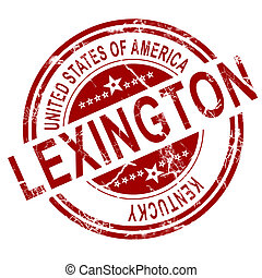 Lexington stamp with white background