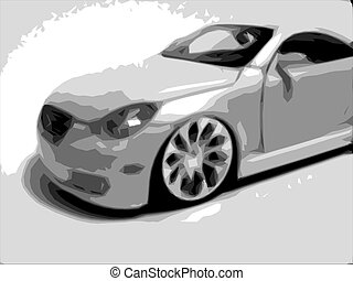 IM000543 A nice little rendition of a Lexus SC430 - I created this from a photo of a little, diecast toy car.