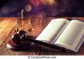 ley, código, y, martillo