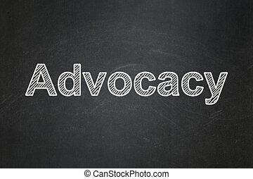 ley, concept:, advocacy, en, pizarra, plano de fondo