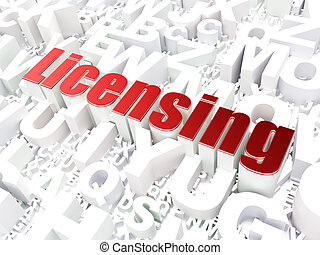 ley, concept:, licenciar, en, alfabeto, plano de fondo