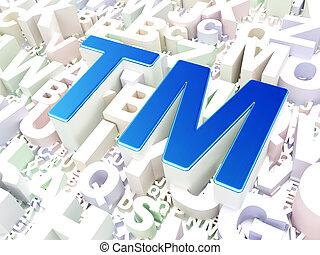 ley, concept:, marca registrada, en, alfabeto, plano de fondo
