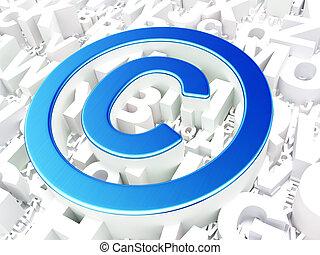 ley, concept:, propiedad literaria, en, alfabeto, plano de fondo