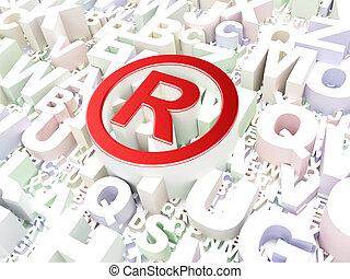 ley, concept:, registrado, en, alfabeto, plano de fondo