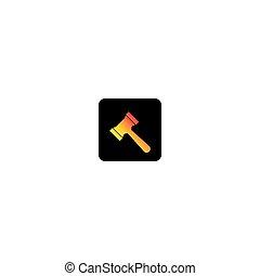 ley, vector, icono, logotipo