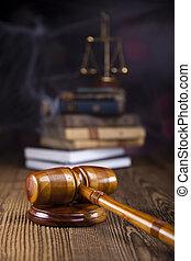 ley, y, justicia, concepto