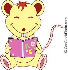 lezen, boek, muis