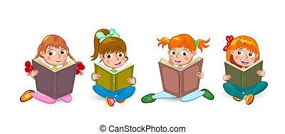lezen, interessant, weinig; niet zo(veel), boekjes , kinderen