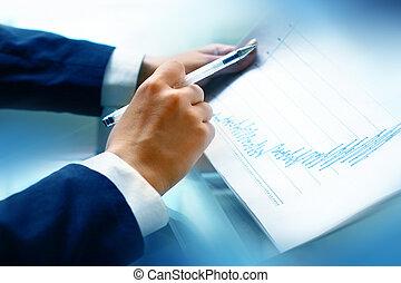 lezen, rapport, financieel