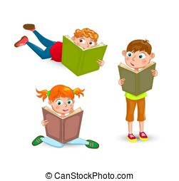 lezen, weinig; niet zo(veel), boekjes , kinderen