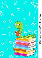 lezende , boekenworm