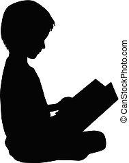 lezende , book., kind
