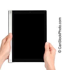 lezende , de, tablet pc