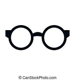 lezende glazen, vrijstaand, pictogram
