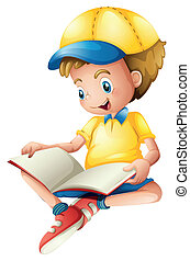 lezende , kind
