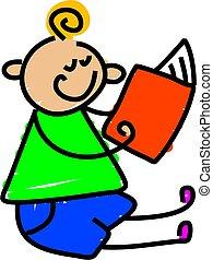 lezende , mijn, boek