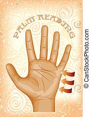 lezende , palm