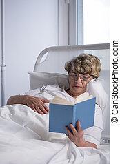 lezende , patiënt, boek