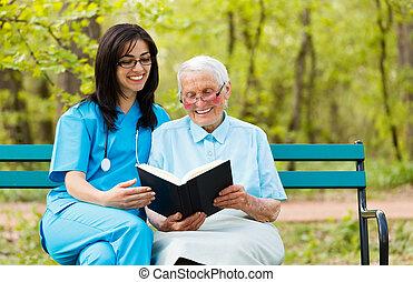 lezende , patiënt