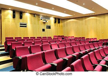 lezing, theater, lege
